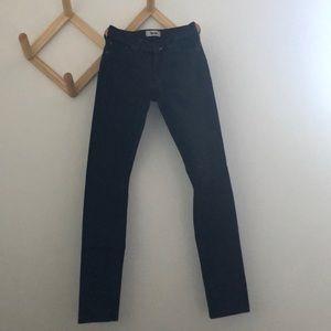 Black Acne skinny jeans